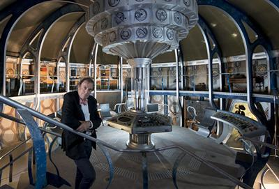 Michael Pickwoad in the TARDIS