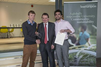 Tony receiving his award