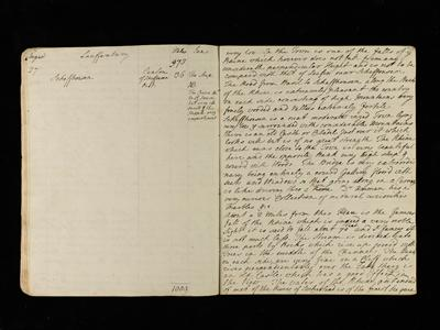 Journal of Henry Temple, second Viscount Palmerston, 1788 MS 62 Broadlands Archives BR15/14