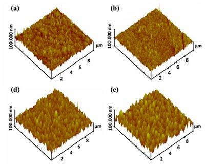 AFM images of thin films