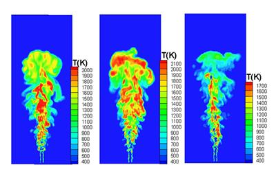 Large Eddy Simulation of Hydrogen-rich to Hydrogen-lean Syngas Burning
