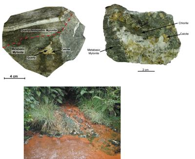 Examples of hydrothermal veins and warm springs samples in this study (Source: Miss C Menzies)
