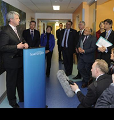 Secretary of State for Health, Andrew Lansley MP, officially opened a new state-of-the-art medical research centre in Southampton today.