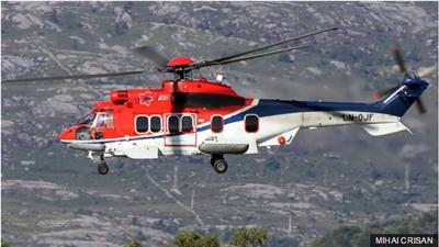 The Super Puma helicopter which crashed off Norway