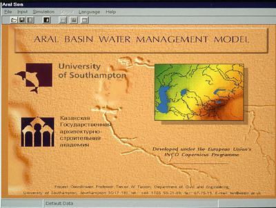 Aral Basin Water Management model