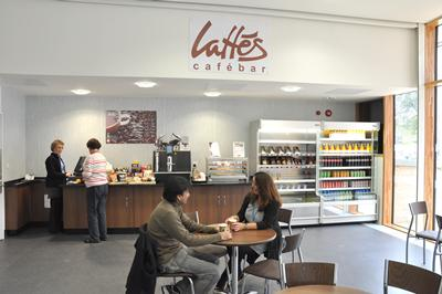 New cafe in the adjacent Life Sciences Building