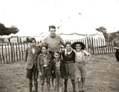 The Spanish children were looked after at a camp in North Stoneham near Eastleigh