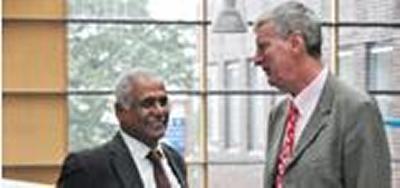 Professor Bahaj with Councillor Williams