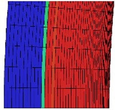 Shock resolution and surface representation with a strand mesh