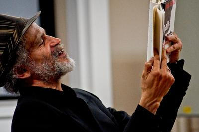 Poet John Agard reads from his work, Half Caste, at an event co-hosted by the CMCW