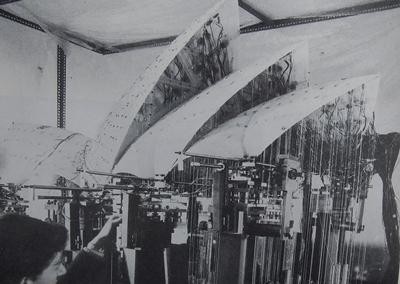 Scale model testing of the Sydney Opera House