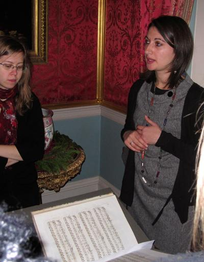 Southampton PhD student Leena Rana researching Music from the Tatton Park collection