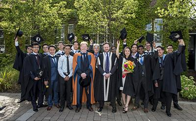 Group of graduates and academics