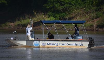 Mekong River Commission boat