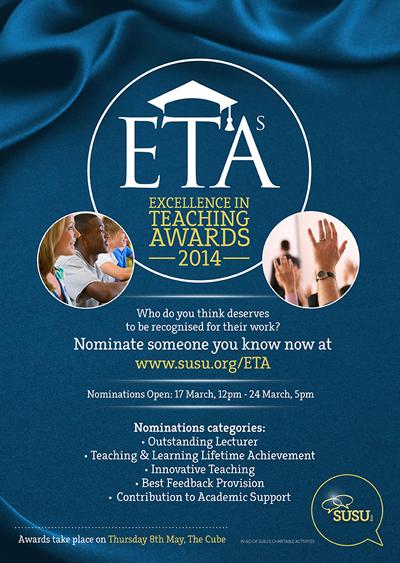 Know a lecturer or member of teaching staff that has excelled over the last year?