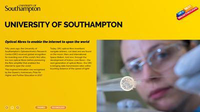 University of Southampton's contribution to global technology recognised in UK's Best Breakthroughs list