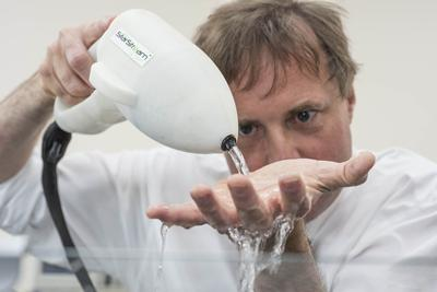 Professor Tim Leighton with StarStream device