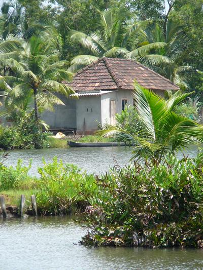 The village of Munruthuruthu is shaped by water.