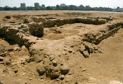 The remains of an early Christian funerary chapel at Suez, 2005, excavated by Grossman, Salib and al-Hanguay (image: J P Cooper)
