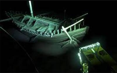 Shipwreck in the Black Sea waters