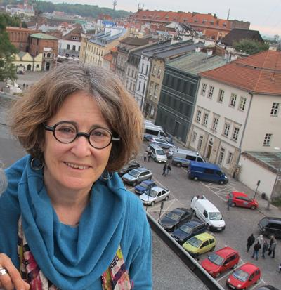 Portrait Image of Ruth Ellen Gruber over looking Krakow
