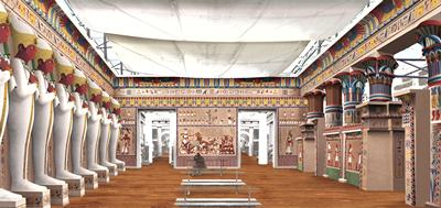 Reconstruction of the main gallery of the Egyptian Court, credit Ian Kirkpatrick