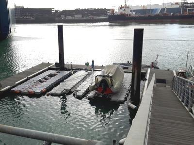 Pontoons in Empress Dock