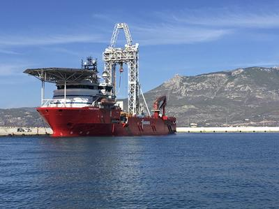 Drill ship Fugro Synergy used for the Expedition 381 in 2017