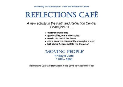 Reflections Cafe Moving People