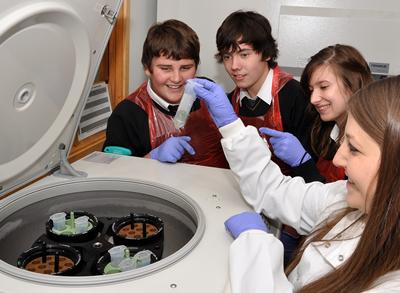 We organise outreach activities that give students a real  hands-on feel for research
