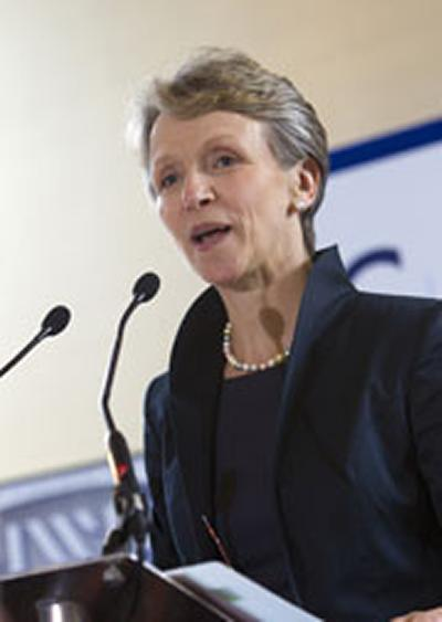 Helen is the University's first female Chancellor.