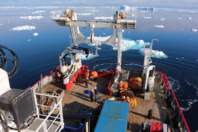 A research expedition in the Southern Ocean