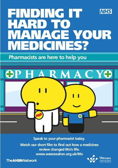Finding it hard to manage your medicines? Wessex AHSN 'Meet Mo' Poster