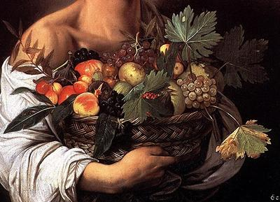Boy with a Basket of Fruit - Caravaggio (1571-1610)