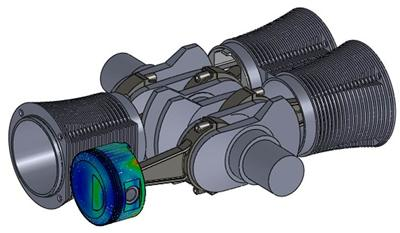 Solidworks CAD model of 4 cylinder Porsche Boxer engine…undertaken as a student exercise