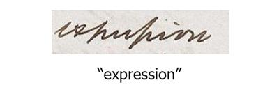 "Letter forms: ""expression"""