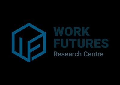 The Work Futures Research Centre logo, with a cube image and the name to the right.