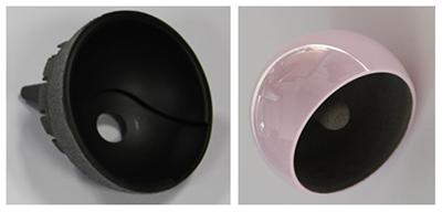 Ceramic Ball and Polymer Matrix Composite Socket Hip Resurfacing Implant Concepts
