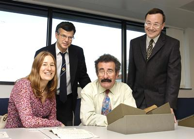 Parkes staff members with Professor Robert Winston