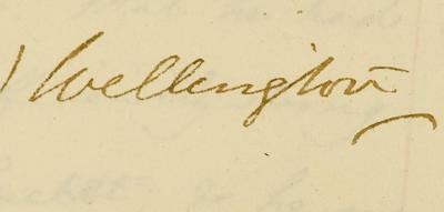 Signature of Duke of Wellington