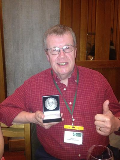 Professor Tom Fleming after receiving the Marshall Medal