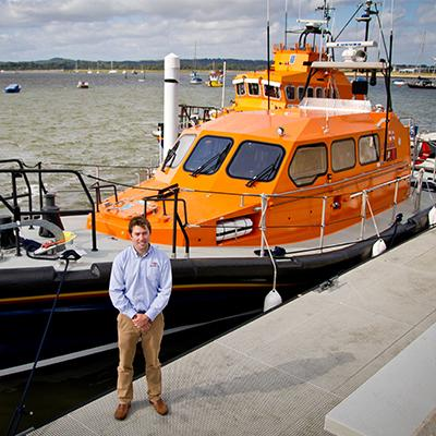Graduate Peter Eyre helped design the new RNLI lifeboat using his skills as a naval architecht
