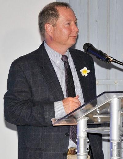 Professor Damon Teagle presenting at CMMI