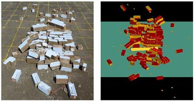 Explosive testing versus numerical modelling
