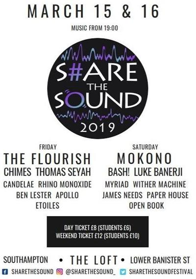 Full details of Share the Sound 2019