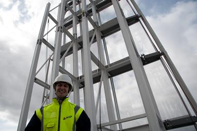 Richard was the senior engineer responsible for the core of the Shard providing  its central stability