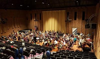 SUSO's first rehearsal with Susanna Riddell in Turner Sims.