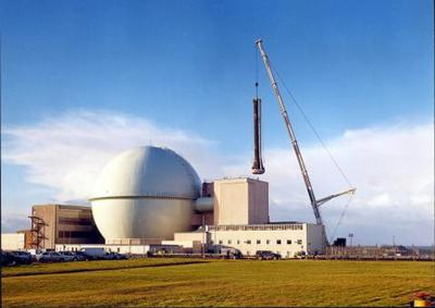 Ventilation stack at DFR is removed for decommissioning - Image courtesy of Dounreay Site Restoration Ltd