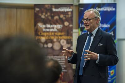 Lord Deben urged the audience to take individual action to effect change in energy policy