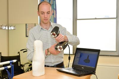 Evidence-based prosthetic socket design can take advantage of 3D scanning, computational modelling to predict limb-prosthesis load transfer, and population-based analysis to understand what works for
